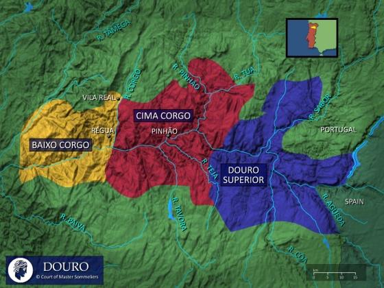 A Região Demarcada do Douro é formada por 3 sub-regiões, cada qual com características próprias