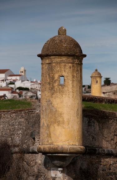 Muralha que cerca a cidade de Elvas, construída no século 17