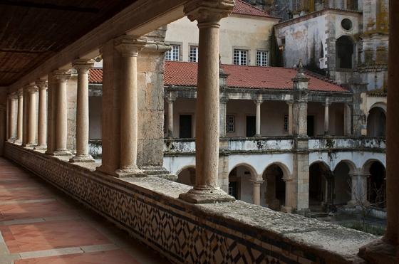 Claustro das Hospedarias no Convento de Cristo, em Tomar