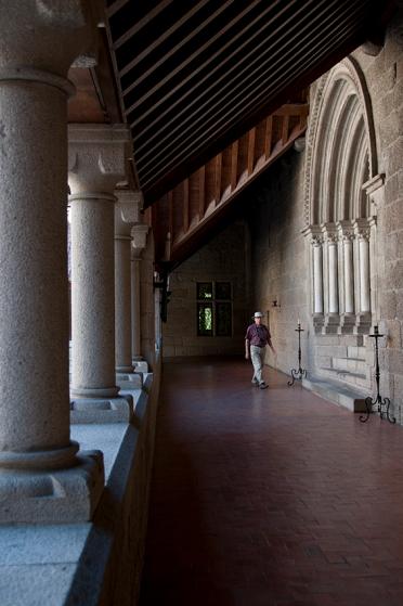 Paço dos Duques, Guimarães. O pórtico que se vê na foto é a entrada da capela