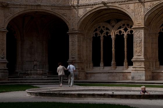 Claustro do Mosteiro dos Jerónimos, em Lisboa, declarado patrimônio mundial em 1983