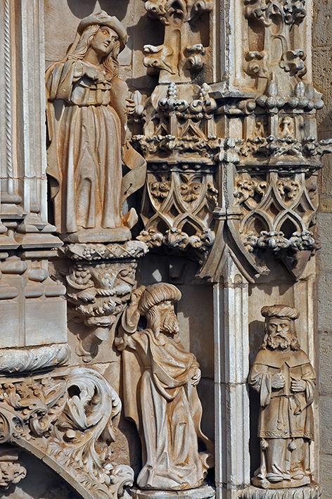 Portal Sul da Igreja Manuelina, iniciado em 1515 pelo arquiteto João de Castilho