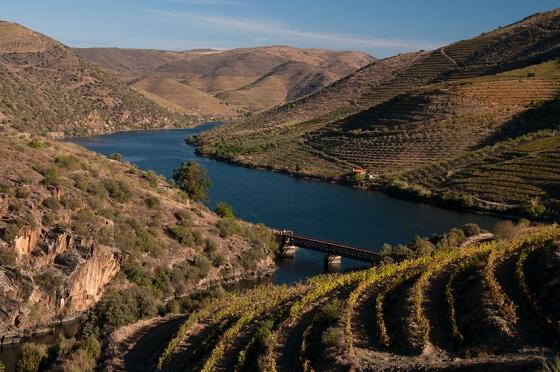 Ponto onde o rio Côa encontra o Douro, no caminho de quem segue para Castelo Melhor