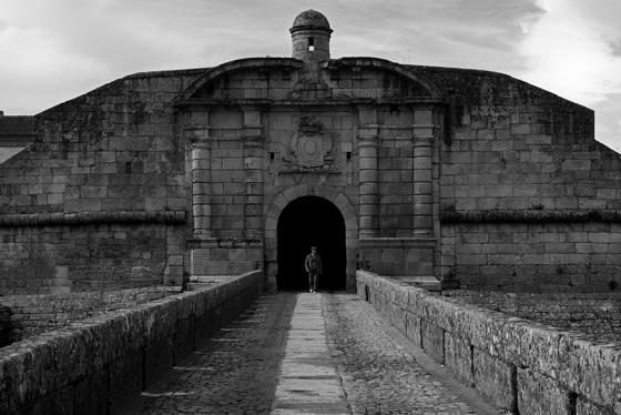 Praça-forte da aldeia histórica de Almeida, centro de Portugal
