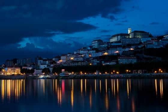 Coimbra vista do Parque Verde precisamente às 20h11: ótima pedida antes do jantar