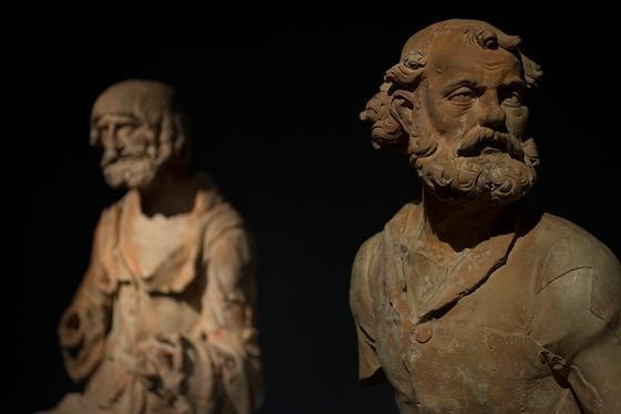 São Pedro, um dos únicos três apóstolos identificados; os outros dois são judas e São João