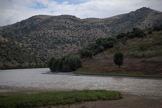 Visual perto da foz da Ribeira de Piscos, que desagua no Côa
