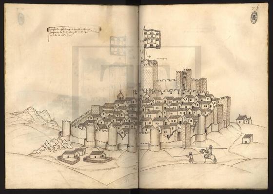 A fortaleza de Castelo Rodrigo desenha por Duarte de Armas em 1510