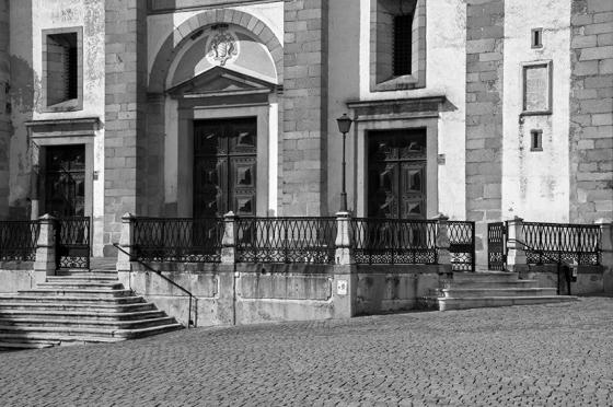 Um recorte da fachada: construção teve início em 1557