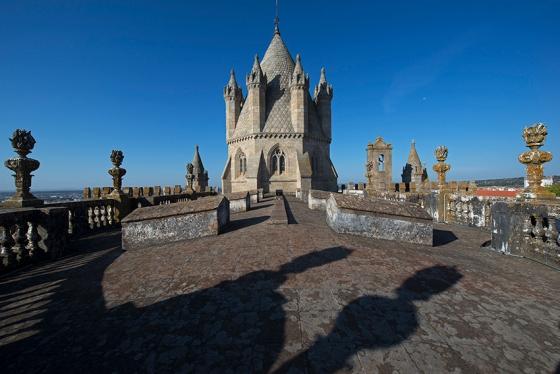 O telhado, ou melhor,o espaço conhecido como Torres da Catedral