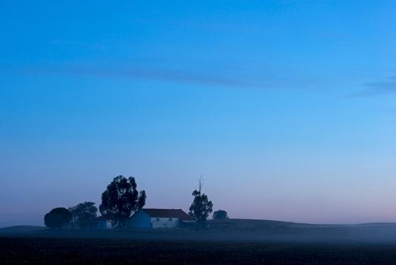 Entre Évora e Monsaraz: blue hour tipicamente alentejana