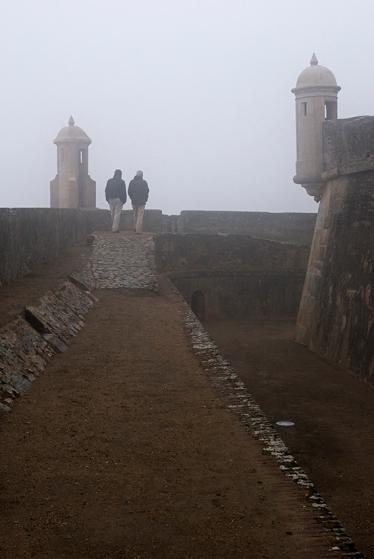 Outras do caminho coberto, já no final da minha inesquecível visita à fortaleza
