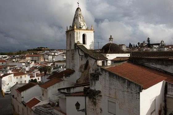 A parte baixa de Elvas vista da muralha, perto da Porta de São Vicente