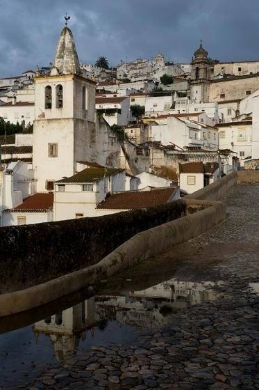 Parte baixa de Elvas vista do alto da muralha, perto da Porta de São Vicente