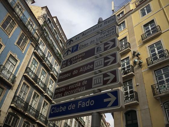 A caminho do Castelo de São Jorge, localizado no topo da mais alta colina de Lisboa