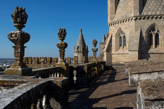 A torre-lanterna e o terraço da catedral, aos quais se têm acesso com o bilhete mais barato de todos