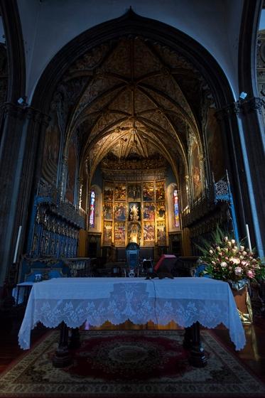 O retábulo da catedral, que permanece praticamente incólume há 500 anos