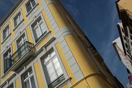 Fachada bem cuidada no delicioso centro histórico do Funchal