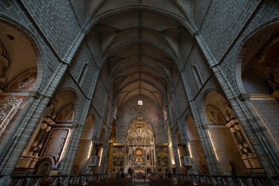 Nave da Igreja de São Francisco, em Évora, recentemente restaurada