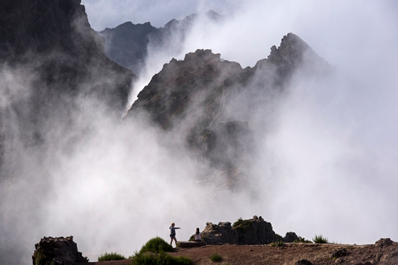 Pico do Areeiro, o terceiro mais alto da Ilha da Madeira, com 1.816 metros