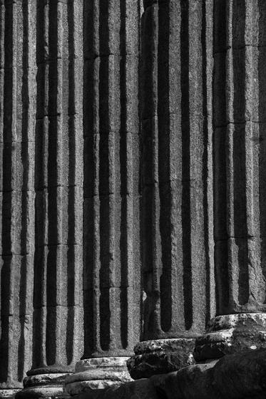 Detalhe das colunas do Templo Romano