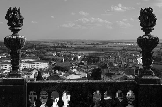 Vista proporcionada pelo terraço da torre, Sé Catedral de Évora