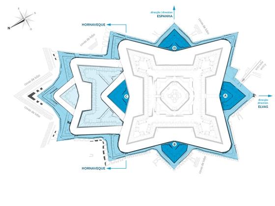 Há pelo menos quatro grandes conjuntos e covas no entorno do Forte da Graça