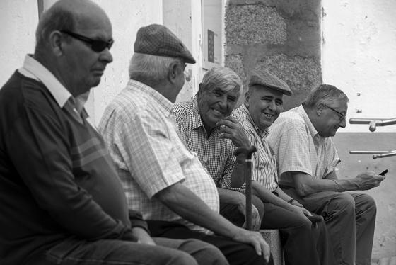 Cena típica de uma tarde na vila de Arraiolos