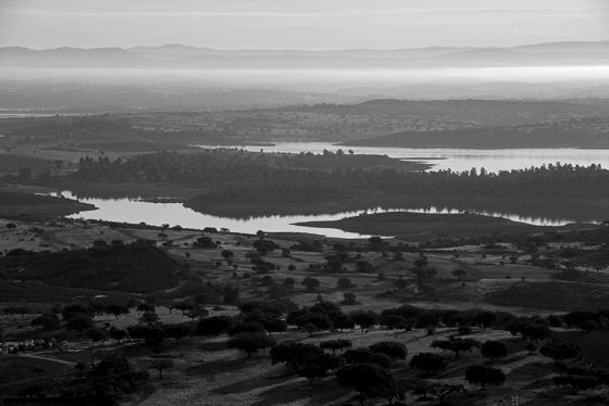 Lago de Alqueva visto do castelo